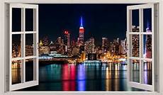 poster mural new york new york city view 3d window wall sticker decal