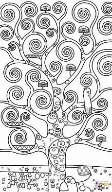 Malvorlagen Jugendstil Easy Tree Of By Gustav Klimt Coloring Albero