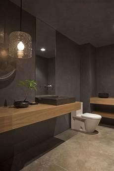 Grey Bathroom Design With Mid Toned Wood Homedesignboard