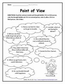grammar worksheets consistent point of view 24725 point of view worksheet for 3rd grade lesson planet