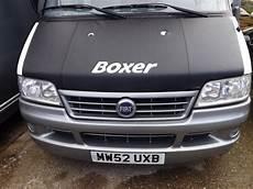 x bonnet bra cover black boxer logo for peugeot boxer