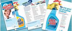 creative marketing materials for a house cleaning service business card flyer brochure