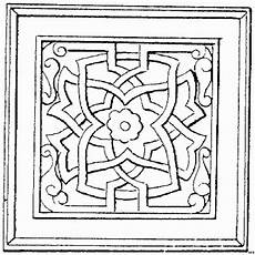 quadratische verzierung ausmalbild malvorlage architektur