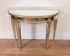 console deco deco mirrored console table demi lune tables