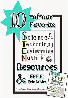 10 of our favorite stem resources and free stem notebook printables homeschool stem education