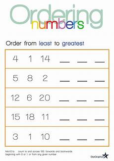 counting and ordering numbers worksheets 8009 ordering numbers least to greatest with images ordering numbers kindergarten math