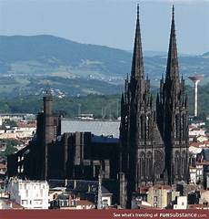 Clermont Ferrand Cathedral In It Is Built
