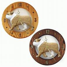 Inch Bulldog Wall Clock by Bulldog Wood Wall Clock Plaque