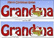 large dl merry christmas great grandma insert with snowman cup934262 359 craftsuprint
