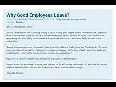 why good employees quit or leave you according to forbes