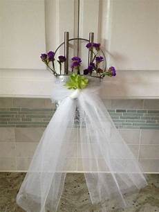 tin aisle chair decorations with bridal tulle tradesy
