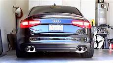 vader audi s4 b8 5 cold start loud revs and launch start w armytrix cat back performance