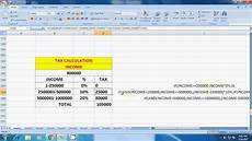 income tax calculation in excel