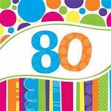 servietten 80 geburtstag servietten 80 geburtstag bunte runde partygro 223 handel