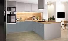 küche in l form k 252 chenzeile k 252 chenblock k 252 che l form 340x244cm grau dust