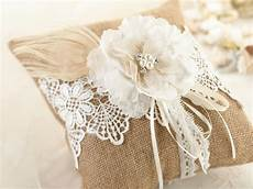 rustic country vintage style wedding ring pillow
