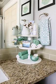Decorating Ideas For Bathroom Counter by Diy Farmhouse Three Tier Stand For Bathroom Countertop
