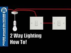how to wire a 2 way light switch 2 way lighting explained youtube