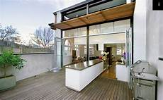 split kitchen which goes both indoors and outdoors cool coastal country retreats sonoma