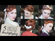 5 quick easy vintage hairstyles for natural straight