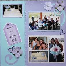 niece s wedding shower layout scrapbook com