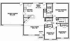 single floor 3 bhk house plans 3 bedroom one story house plans story bedroom 3 one