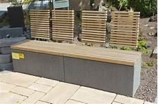 Garten Bank Modern Holz Aus Stein Rinn Beton Und
