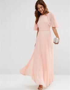 sleeve maxi dress rash lyst asos pleated flutter sleeve kaftan maxi dress in pink