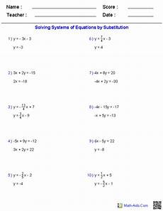 algebra 1 worksheets systems of equations equations