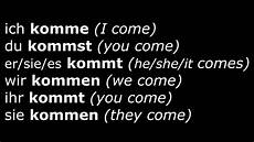 learn german verbs lesson 16 kommen come verben im