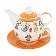 teekanne set blumen tea for one teekanne mit tasse teller