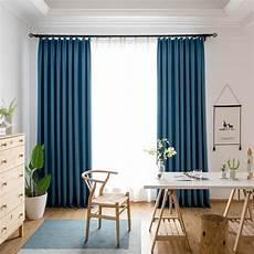 vorhang blau minimalismus vorhang blau aus polyester und leinen f 252 r