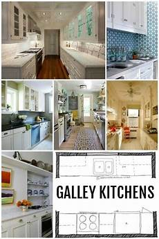 Popular Kitchen Layouts And How To Use Them by Kitchen Design Galley Kitchen Layouts Via Remodelaholic