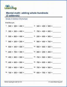 new grade 4 math worksheets pages