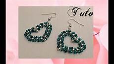 comment faire des bijoux en perles facile tuto boucles d oreille quot coeur quot en perles