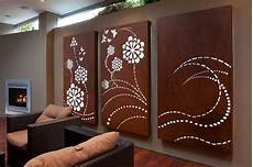flower wave light box triptych laser cut wall art for outdoor rooms entanglements lifestyle