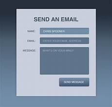 create a stylish contact form with html5 css3