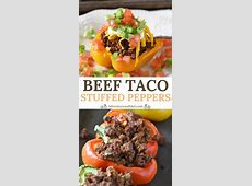 taco filled bell peppers image