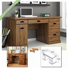 computer desks for home office with storage table furniture desk oak ebay