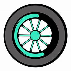 Car Wheel Icon Icon Stock Vector Illustration
