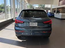 Rear View Of The 2018 Audi Q3 In Daytona Grey Pearl