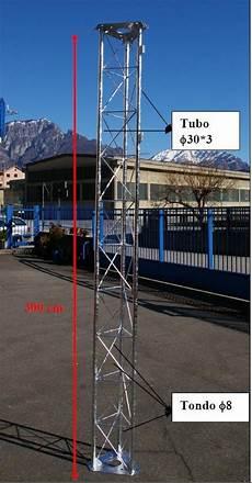traliccio antenna traliccio 30x30 rinforzato zincato a caldo sezioni di tre