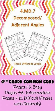 4 md 7 common core math standards decomposed angles