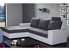 canape gris blanc canap 233 d angle gauche gigogne convertible rapido waterford