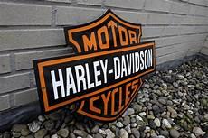 large enamel harley davidson garage sign catawiki
