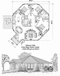 small octagon house plans online house plan 1295 sq ft 3 bedrooms 2 baths