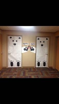 To Decorate Your Bedroom Door by Room Door Decorations Polarbears Cocacola