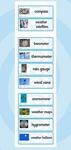 teaching weather ks2 19255 weather instrument word cards free printable ks2 weather instruments weather tools
