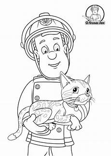 fireman sam helping the cat fireman sam coloring pages