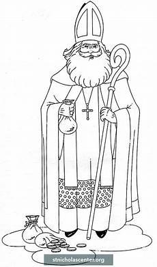 Ausmalbild Bischof Nikolaus Clip St Nicholas Center